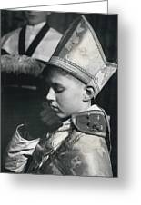 The  Boy Bishop Kisses The Ring Greeting Card
