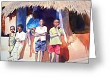 The Boys Of Malawi Greeting Card