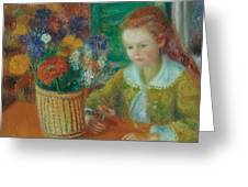The Breakfast Porch Greeting Card by William James Glackens