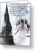 The Bride Of Christ Greeting Card