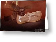 The Bridesmaid's Shoes Greeting Card by Terri Waters