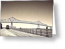 The Bridge At Astoria Greeting Card