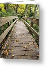 The Bridge At Rough Ridge Greeting Card