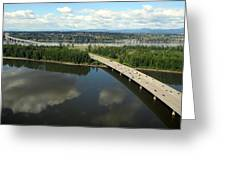 Oregon Bridge From Above Greeting Card