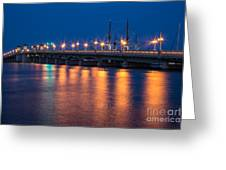 The Bridge Of Lions St. Augustine Florida Greeting Card