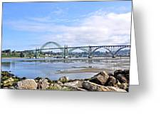 The Bridge To Old Town Greeting Card
