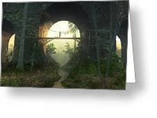 The Bridge Under The Bridge Greeting Card