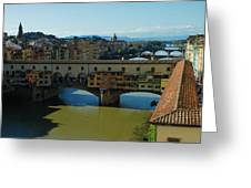 The Bridges Of Florence Italy Greeting Card