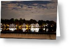 The Bright Lights Of Boathouse Row Greeting Card