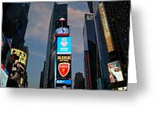 The Bright Lights Of Times Square Greeting Card