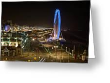 The Brighton Wheel At Night Greeting Card