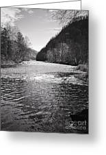 The Broad River 1 Bw Greeting Card