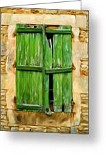 The Broken Shutters Greeting Card