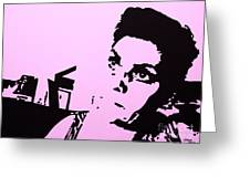 The Brooding Woman 4 Greeting Card