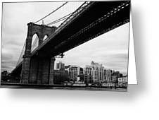 The Brooklyn Bridge New York City East River Greeting Card