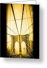 The Brooklyn Bridge New York Greeting Card