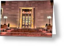 The Brooklyn Public Library Greeting Card by JC Findley