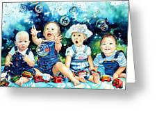The Bubble Gang Greeting Card by Hanne Lore Koehler