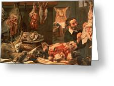 The Butcher's Shop Greeting Card