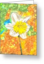 The Buzzing Life Of A Spring Narcissus Greeting Card