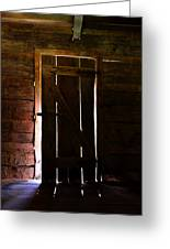The Cabin Door Greeting Card by David Lee Thompson