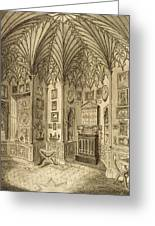 The Cabinet, Engraved By T. Morris Greeting Card