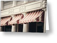 The Cafe Awnings At Chautauqua Institution New York  Greeting Card