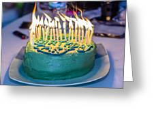 The Cake Is On Fire Greeting Card