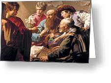 The Calling Of St Matthew  Greeting Card