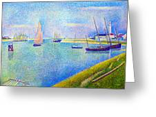 The Canal At  Gravelines Greeting Card