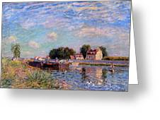 The Canal At Saint-mammes Greeting Card