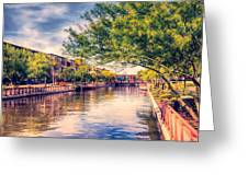 The Canal In Downtown Scottsdale Greeting Card