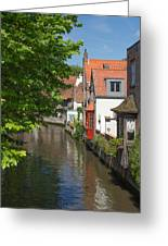 The Canal In The Downtown Of Bruges  Greeting Card