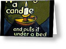 The Candle Greeting Card by Patricia Howitt