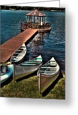 The Canoes At Big Moose Inn Greeting Card