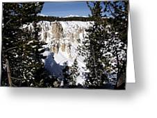 The Canyon In Winter Greeting Card