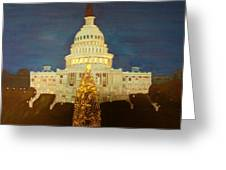 The Capitol At Christmas Greeting Card