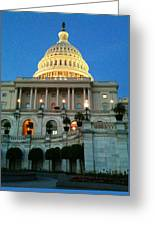 The Capitol At Dusk Greeting Card