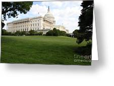 The Capitol Hill View Washington Dc Greeting Card