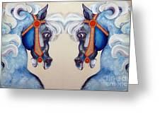 The Carousel Twins Greeting Card