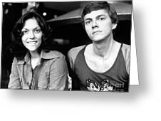 The Carpenters 1972 Greeting Card by Chris Walter