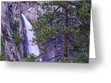 The Cascades Yosemite Np Greeting Card