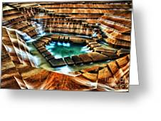 The Cascading Falls - Fort Worth Water Garden  Greeting Card