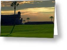 The Castillo De San Marcos Greeting Card