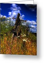 The Castle Fence Line Greeting Card