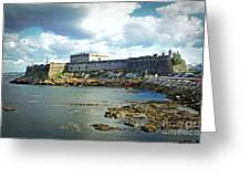 The Castle Fort On The Harbor Greeting Card