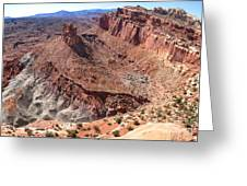 The Castle In Capitol Reef Np Greeting Card