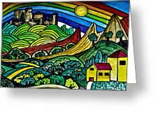 The Castles Rainbow Greeting Card