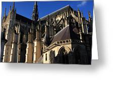 The Cathedral Basilica -  Amiens - France Greeting Card