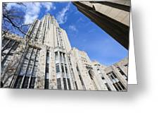The Cathedral Of Learning 5 Greeting Card